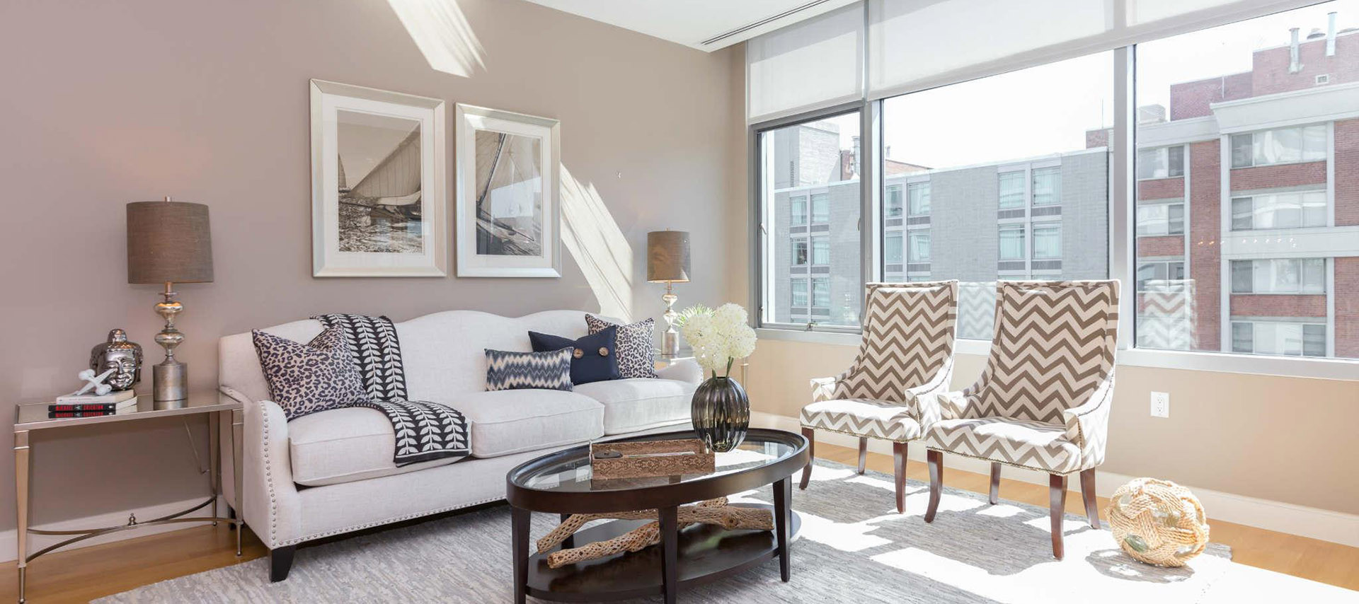 Living Room Staging in Washington DC